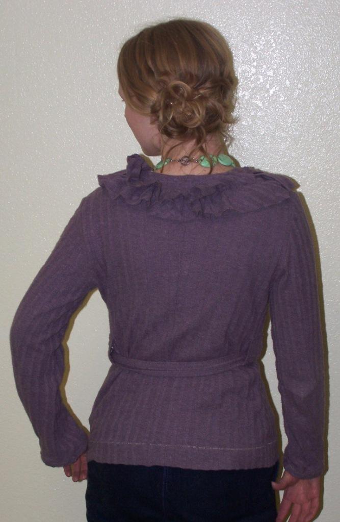 ruffled cardigan