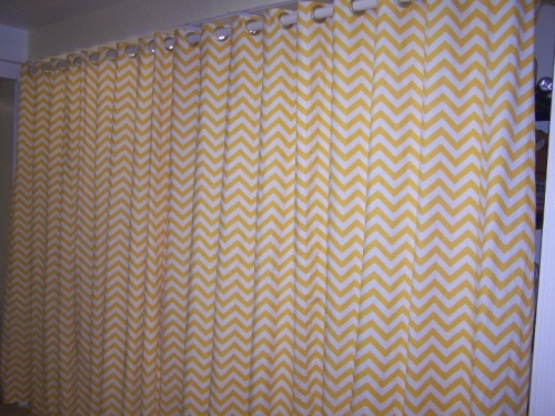 zigzag curtains