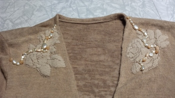 sweater finished embellishment