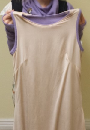 purpledresslining